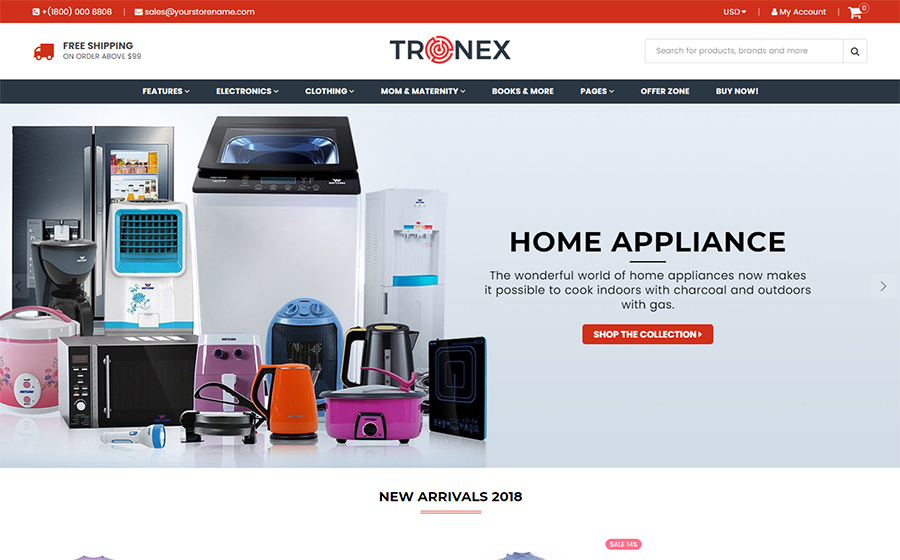 Tronex Multipurpose Shopify Theme