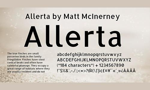 Allerta-font