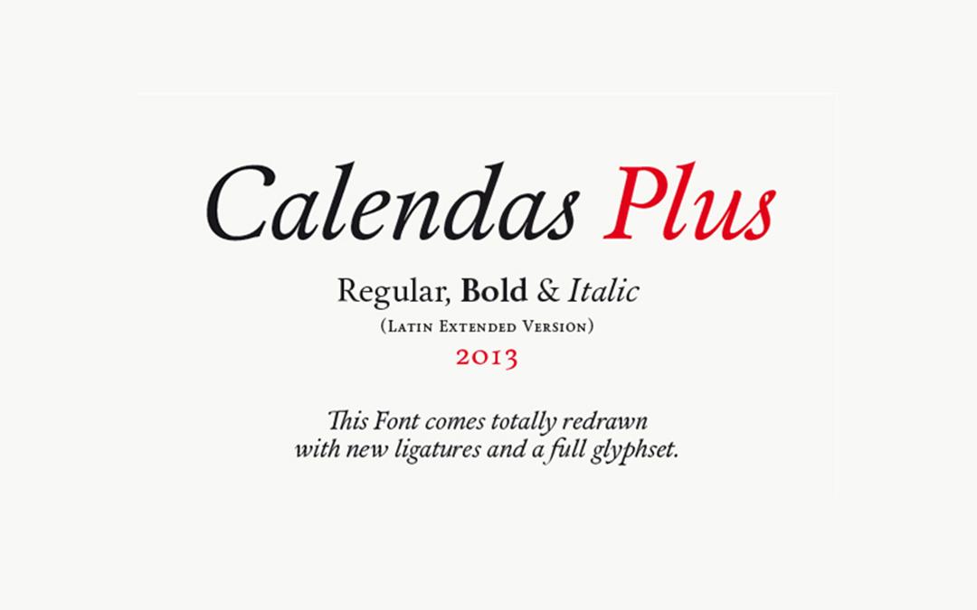Calendas-Plus Font Style