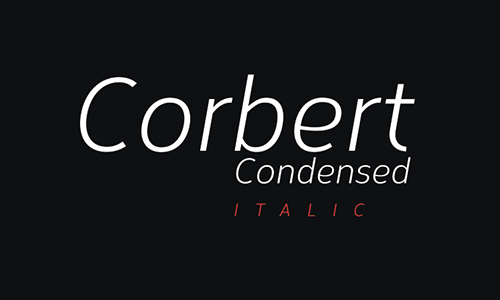 Corbert-condensed-font
