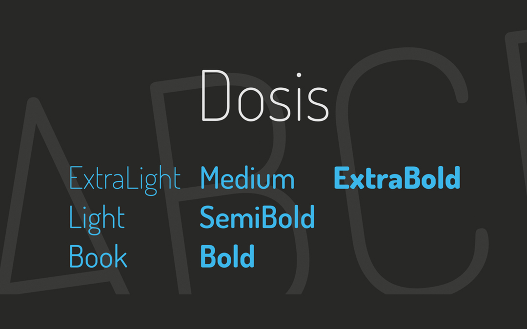 Dosis Font Style