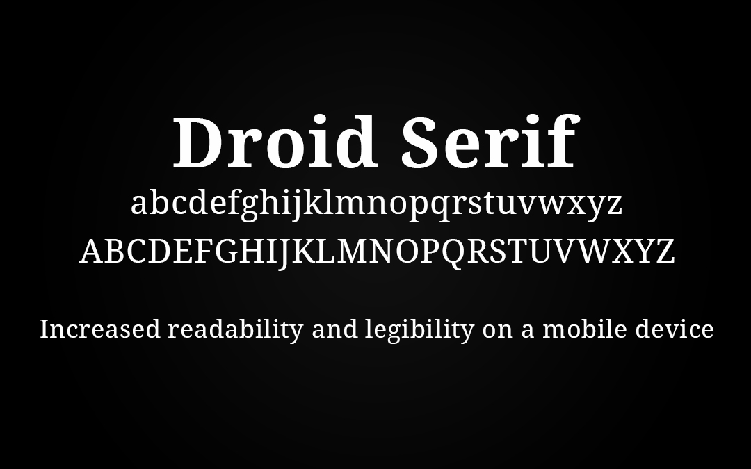 Droid Font Style
