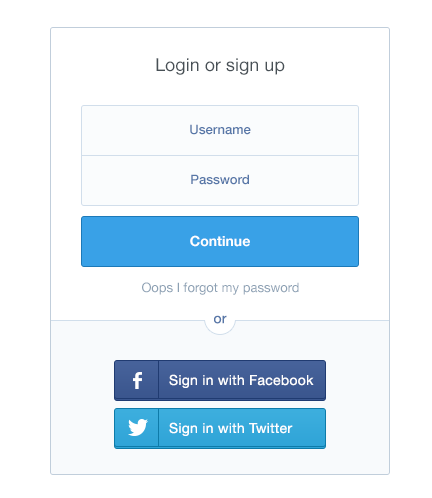 External-account-login-option