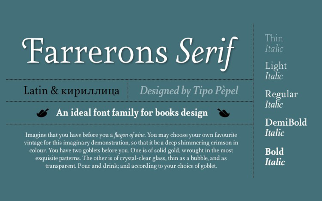 Farrerons-Serif-Light Font Style
