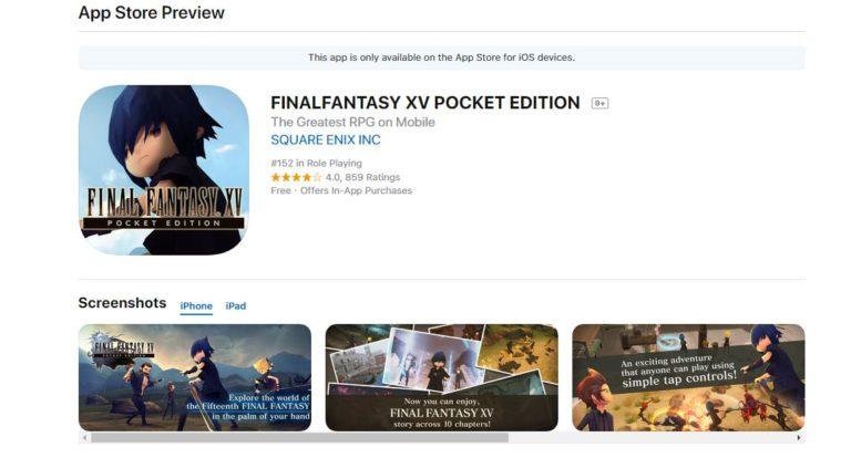 Final-Fantasy-XV-Pocket-Edition