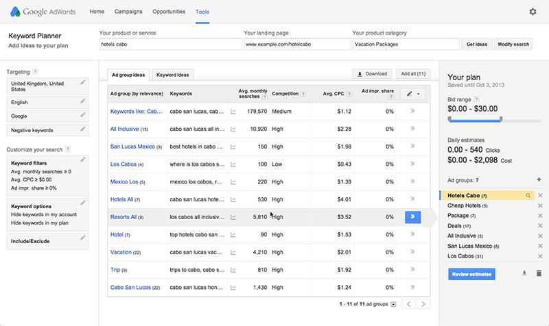 Google-Keyword Planner-tool