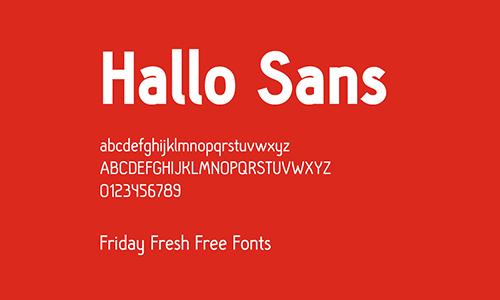 Hallo-Sans-Font