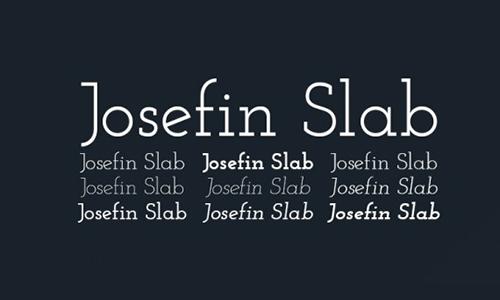 Josefin-Slab-Font