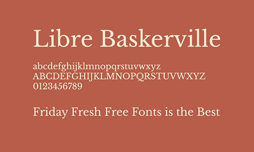Libre-Baskerville-Font