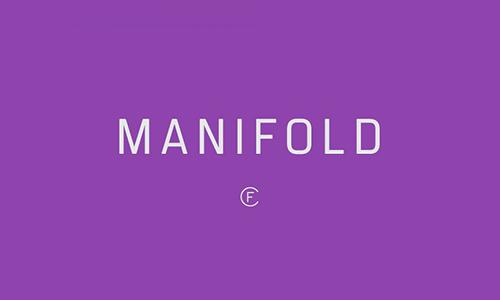 Manifold-font