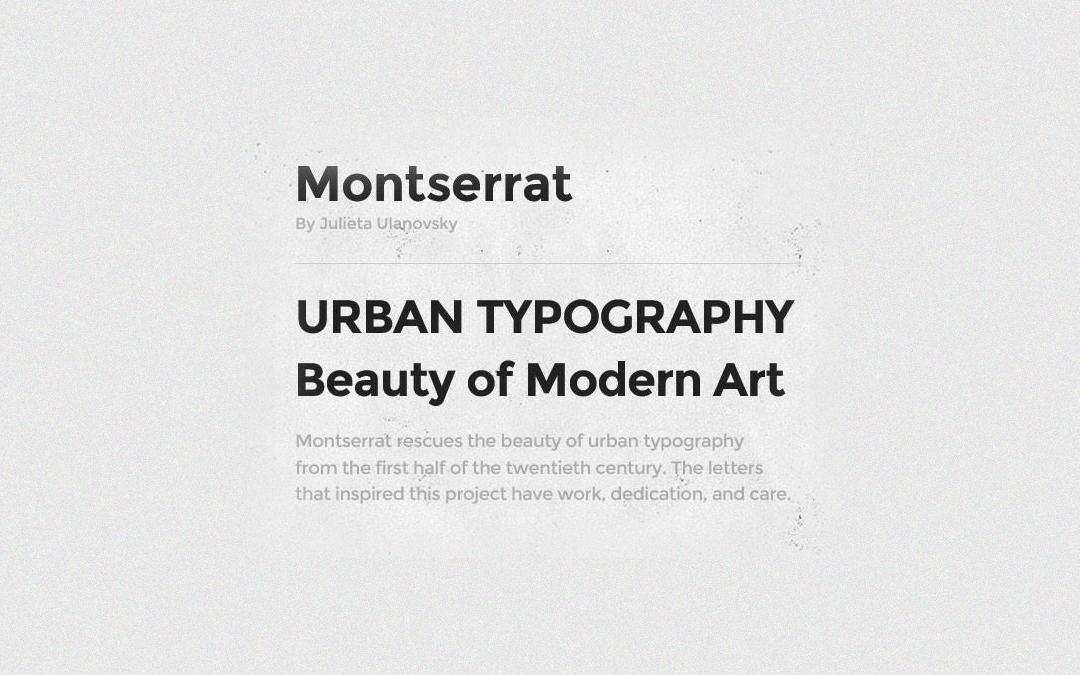 Montserret Font Style
