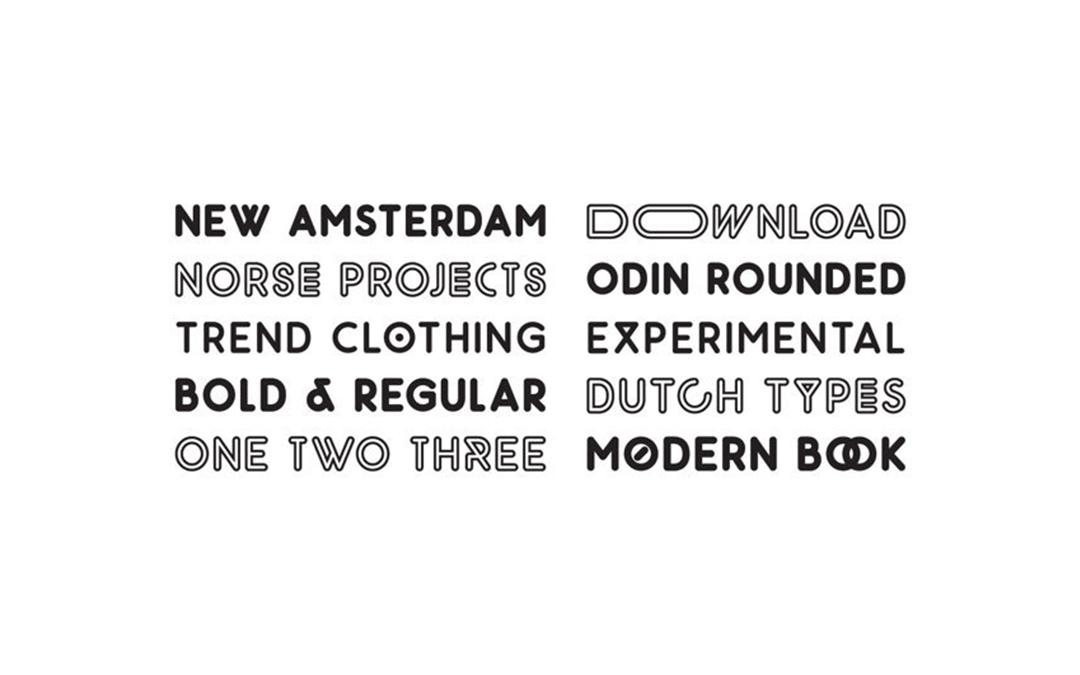 Odin-Rounded Font Style
