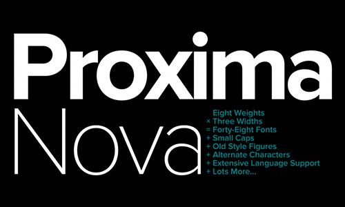 Proxima-nova-font