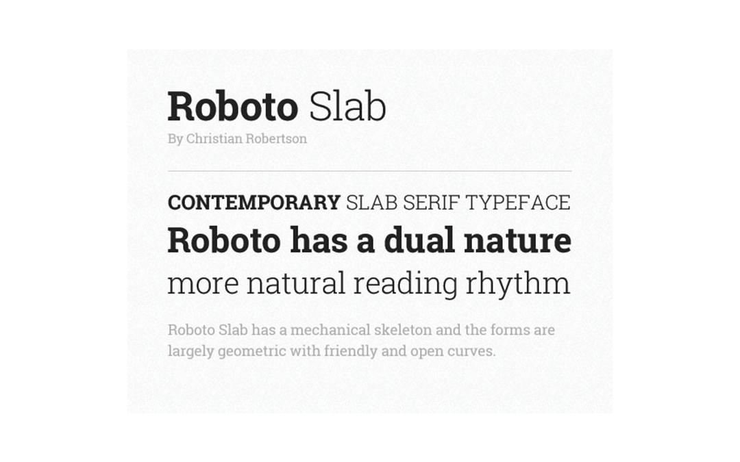 Roboto-Slab Font Style