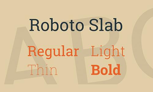 Roboto-Slab-Font