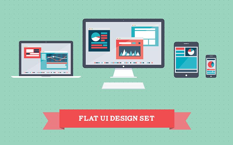 Semi-Flat-Design-In-Web-Design