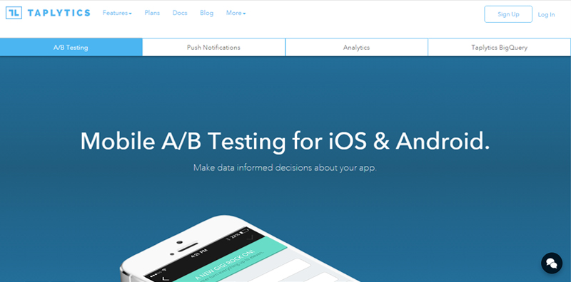 Taplytics A/B Testing For Mobile apps