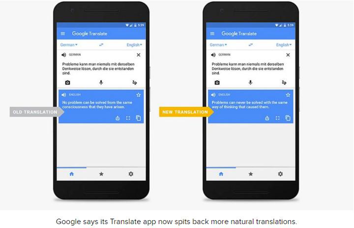 google translation machine learning