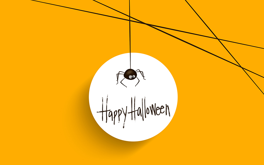 Happy Halloween Minimal Wallpaper 2014
