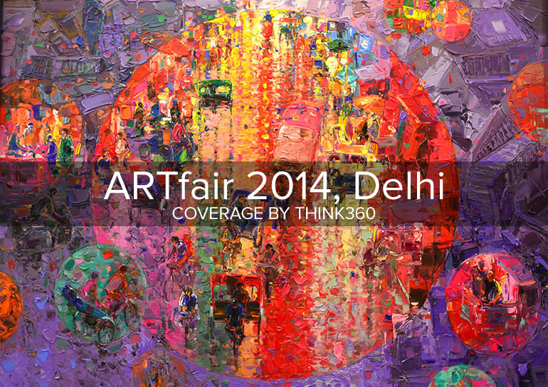 Think 360 Studio at ART fair 2014 Delhi, India