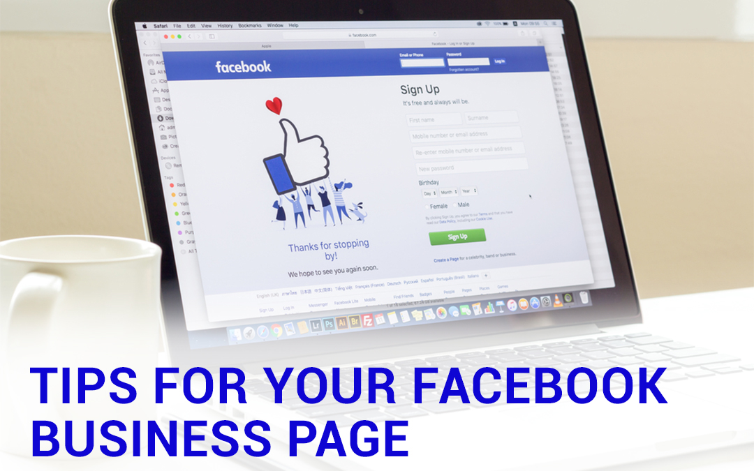 Tips For Your Facebook Business Page – Infographics