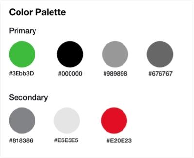 Envi app - Colors