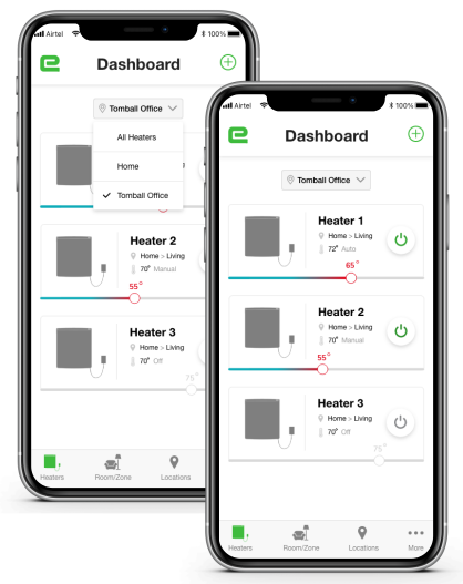 Envi app - Dashboard
