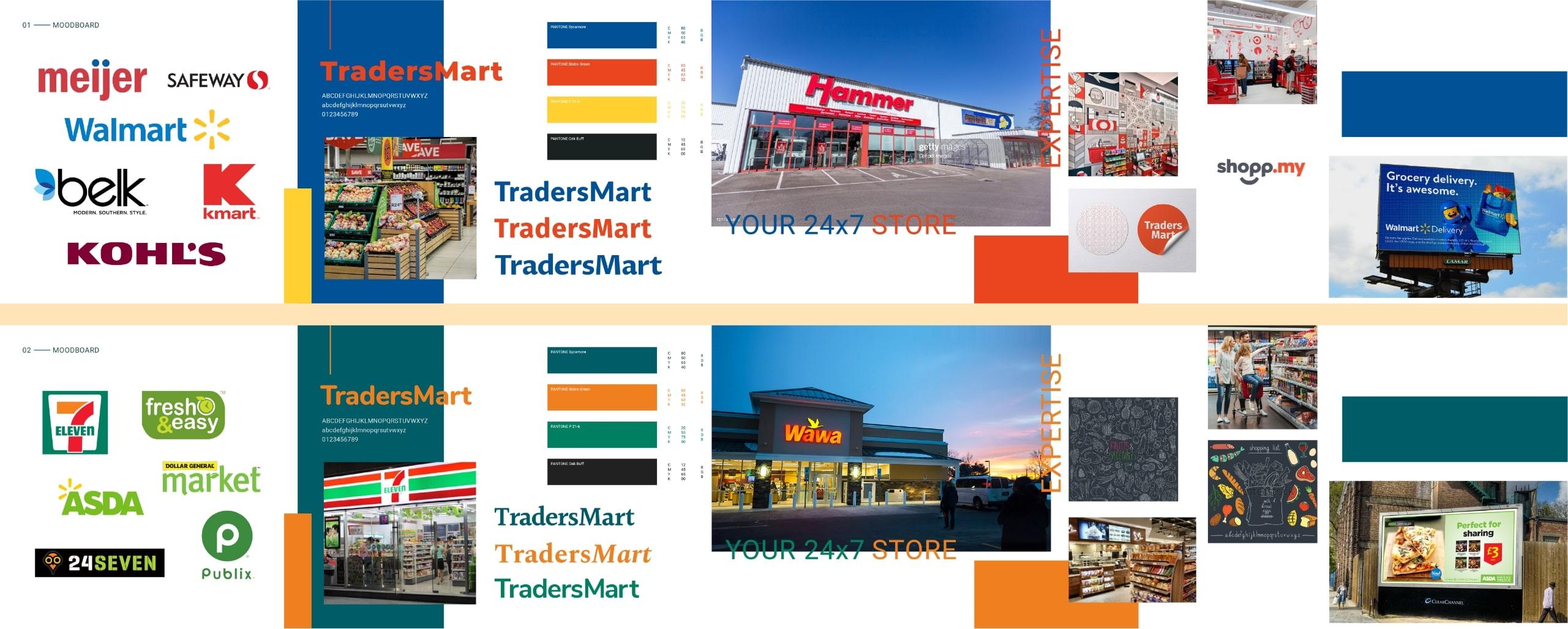 Traders Mart Moodboard.
