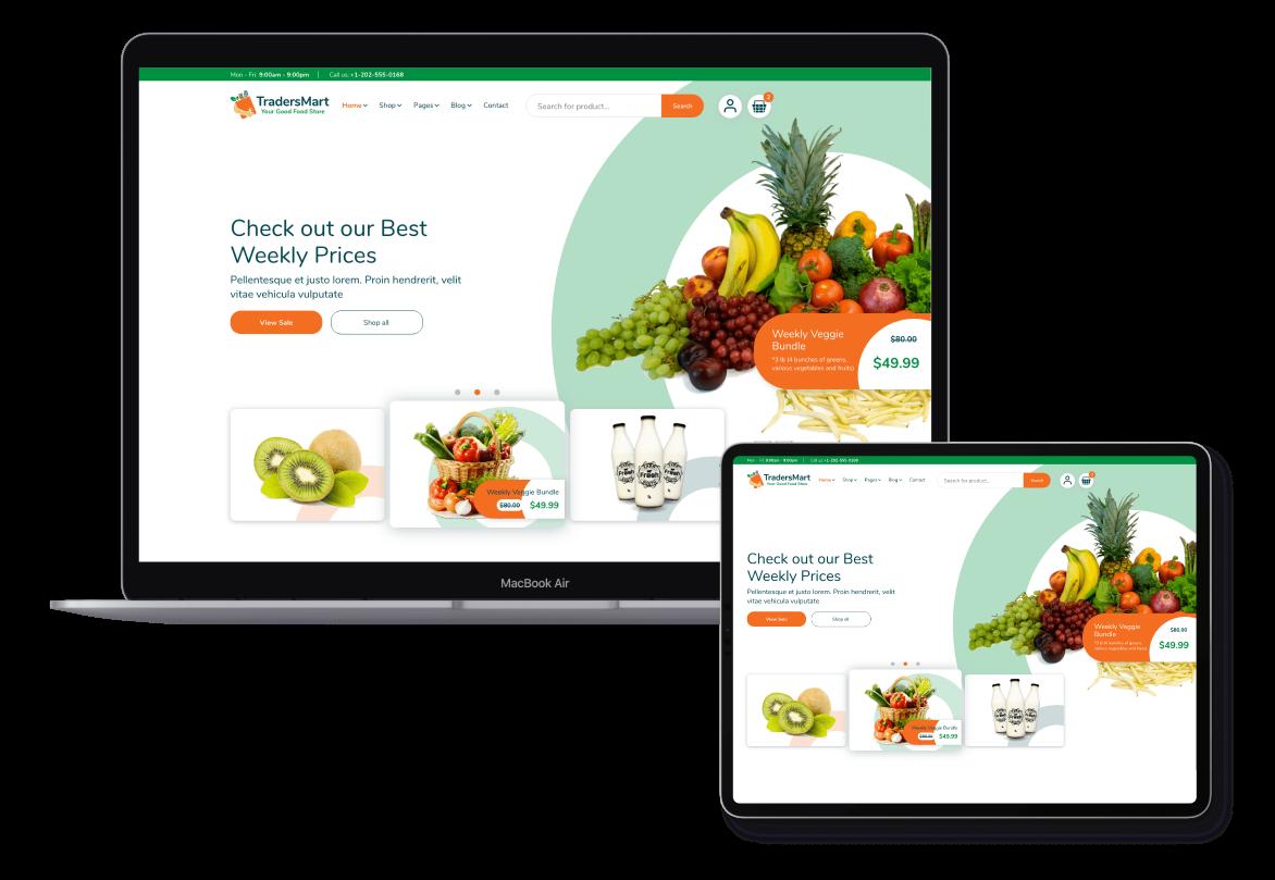 TradersMart Website Design
